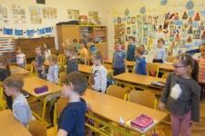 Návštěva předškoláků v 1. ročníku