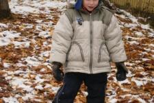 29.10.2012 Radost z prvního sněhu na školní zahradě