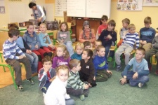 Nácvik vánočního vystoupení se školáky